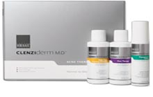 Three-step acne treatment with clinically proven ingredients to help clear skin fast.